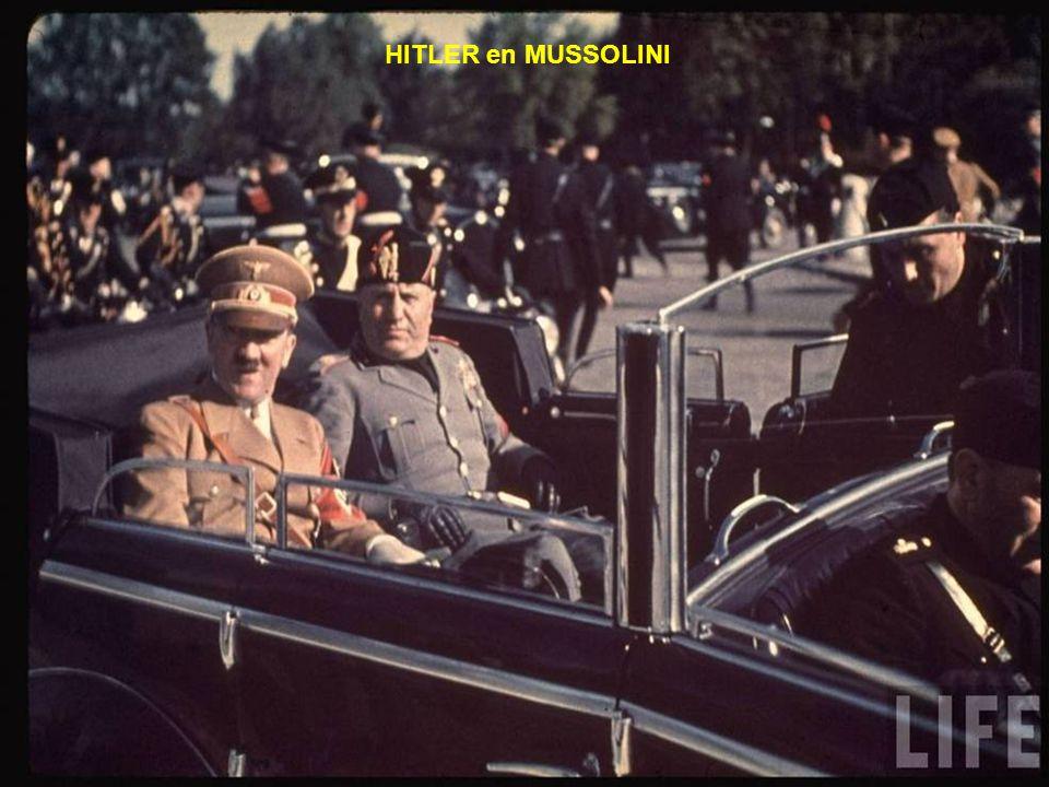 HITLER en MUSSOLINI