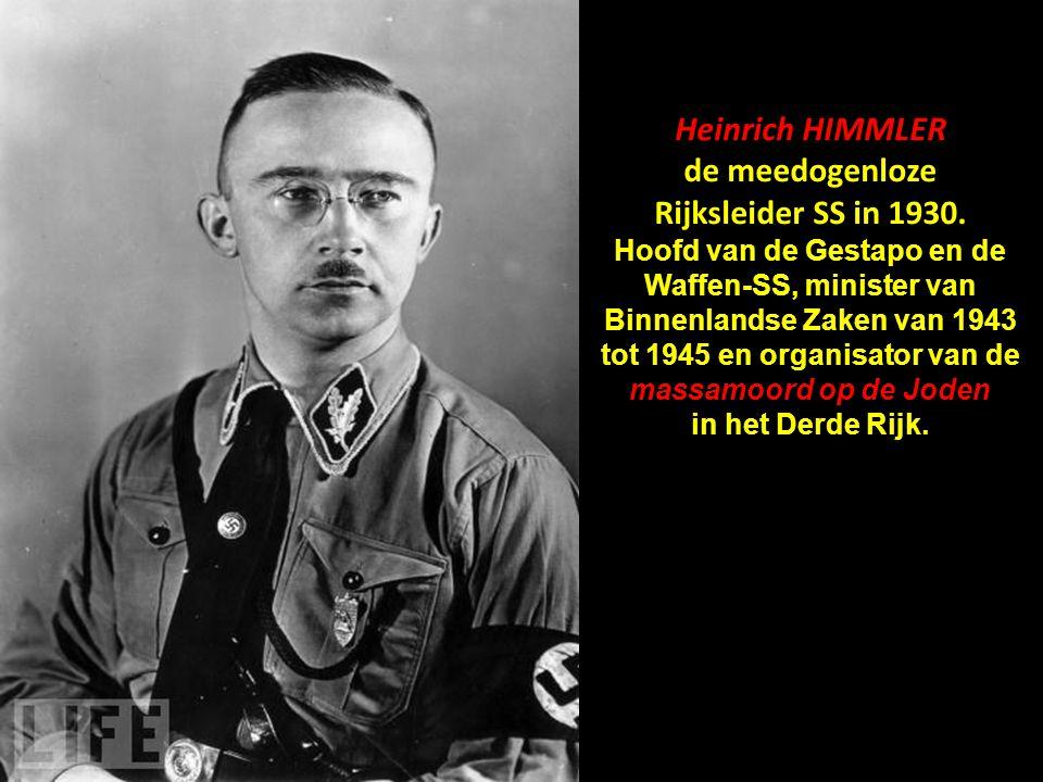 de meedogenloze Rijksleider SS in 1930.