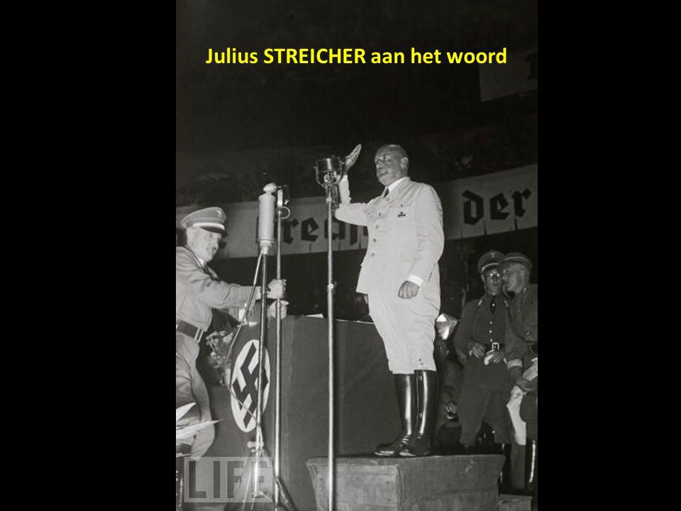 Julius STREICHER aan het woord