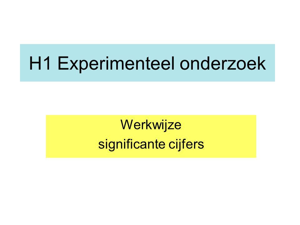 H1 Experimenteel onderzoek