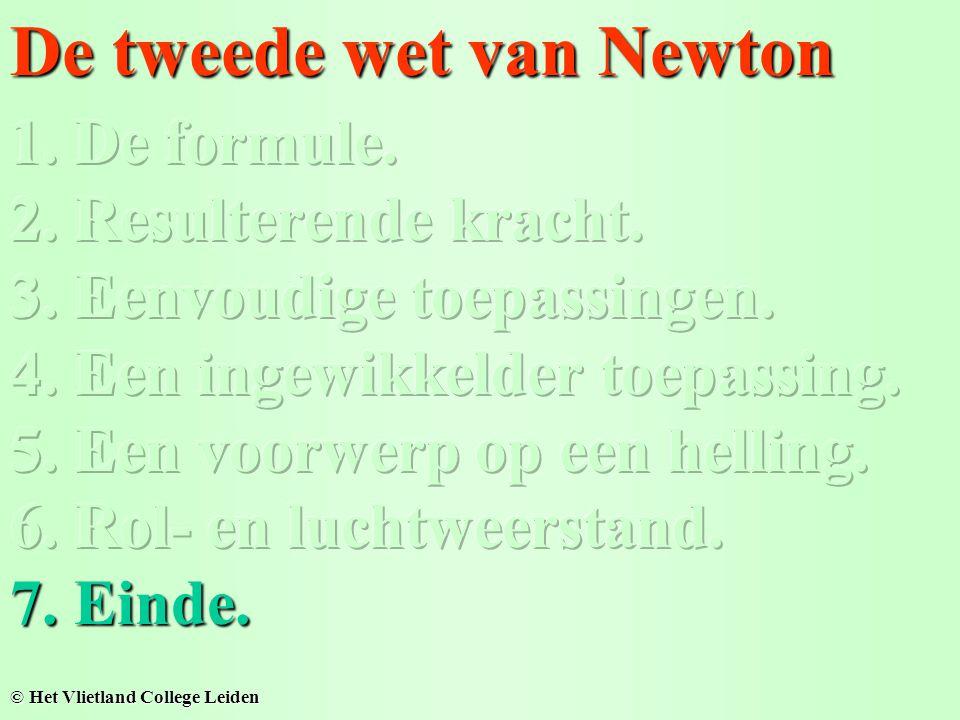 De tweede wet van Newton