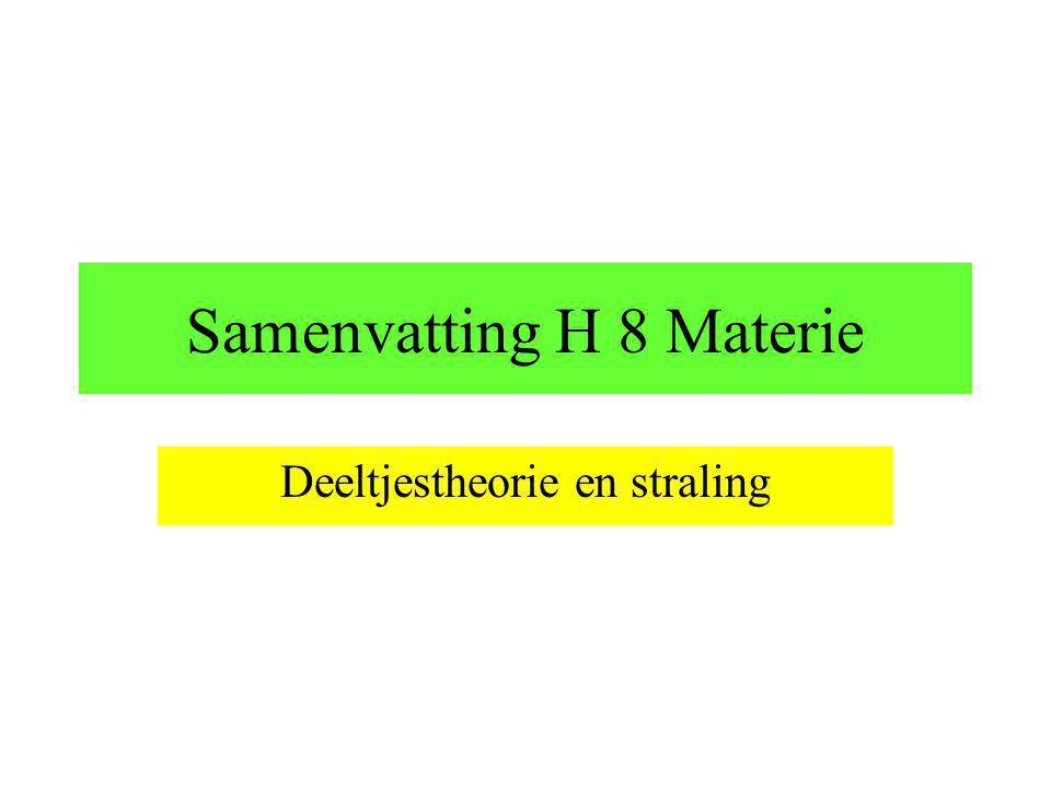 Samenvatting H 8 Materie