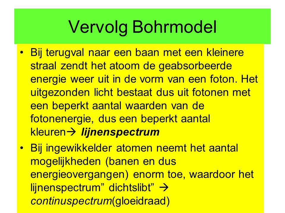 Vervolg Bohrmodel