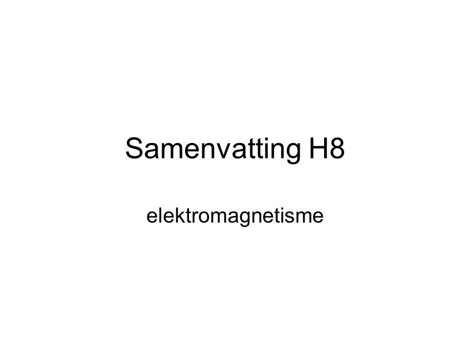 Samenvatting H8 elektromagnetisme