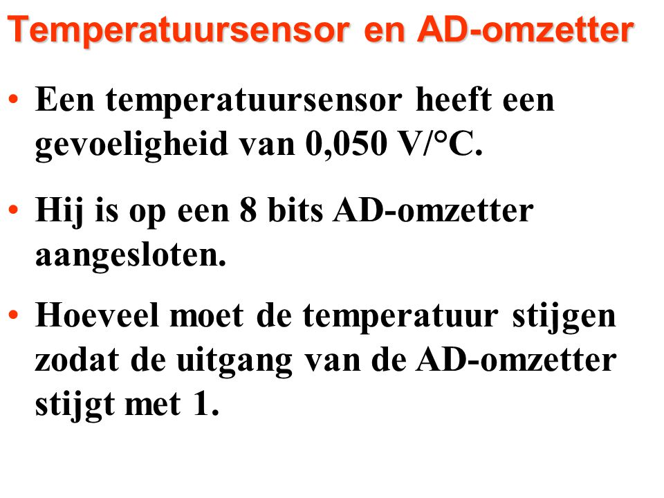 Temperatuursensor en AD-omzetter