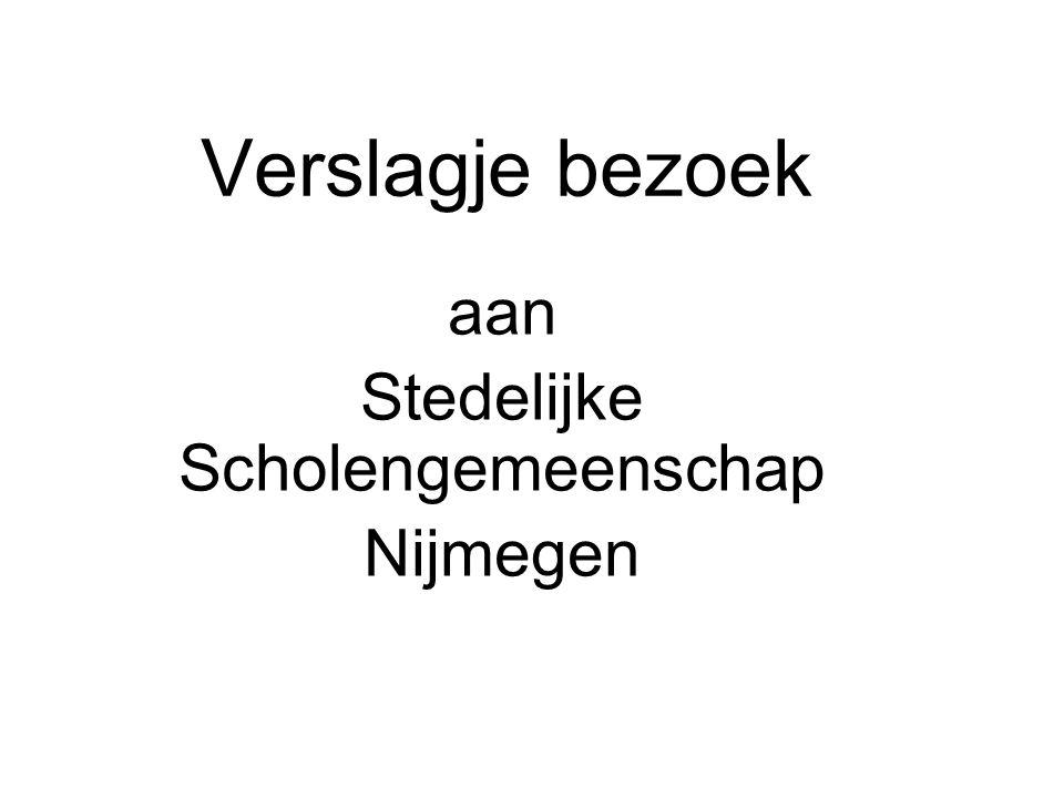 aan Stedelijke Scholengemeenschap Nijmegen
