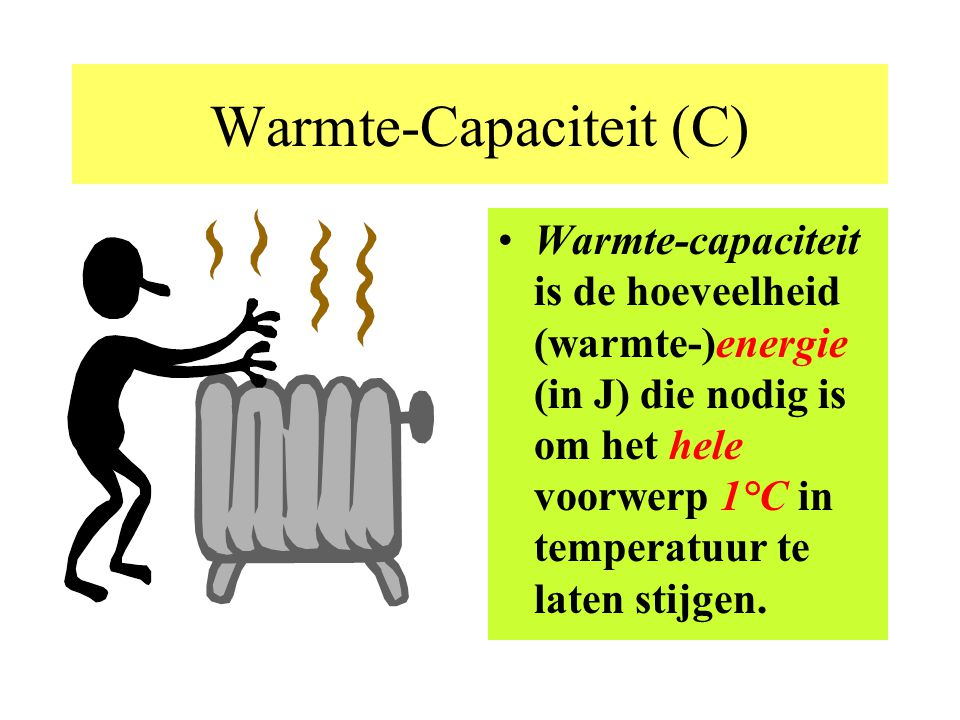 Warmte-Capaciteit (C)