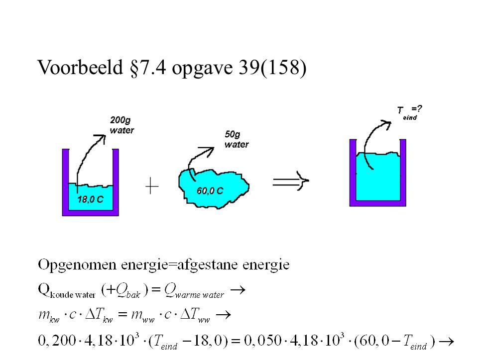 Voorbeeld §7.4 opgave 39(158)