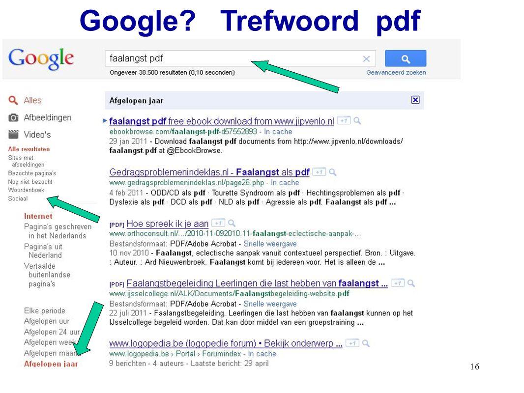 Google Trefwoord pdf