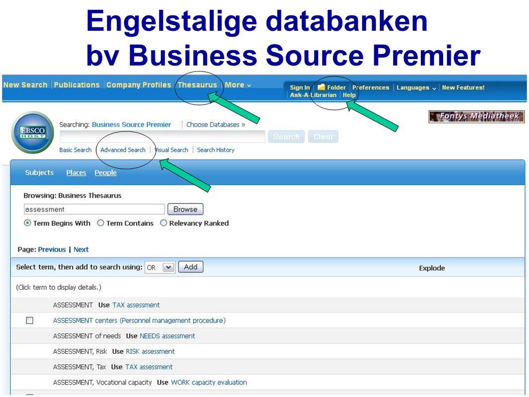 Engelstalige databanken