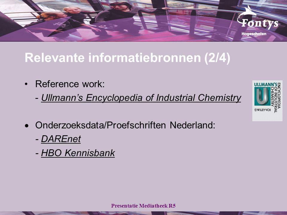 Relevante informatiebronnen (2/4)