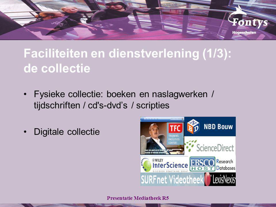 Faciliteiten en dienstverlening (1/3): de collectie