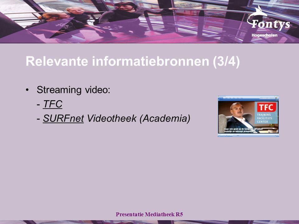 Relevante informatiebronnen (3/4)