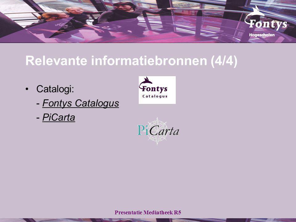 Relevante informatiebronnen (4/4)