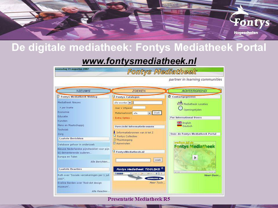 De digitale mediatheek: Fontys Mediatheek Portal