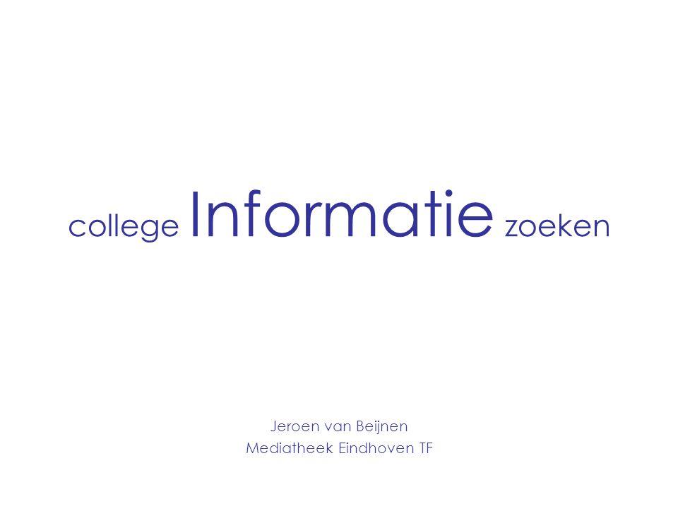 college Informatie zoeken