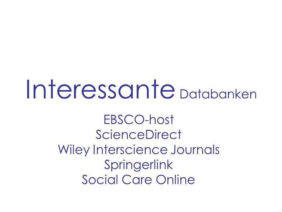 Interessante Databanken