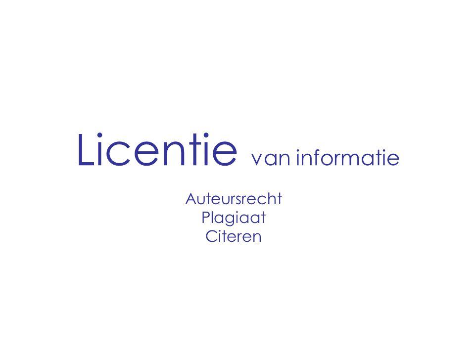 Licentie van informatie