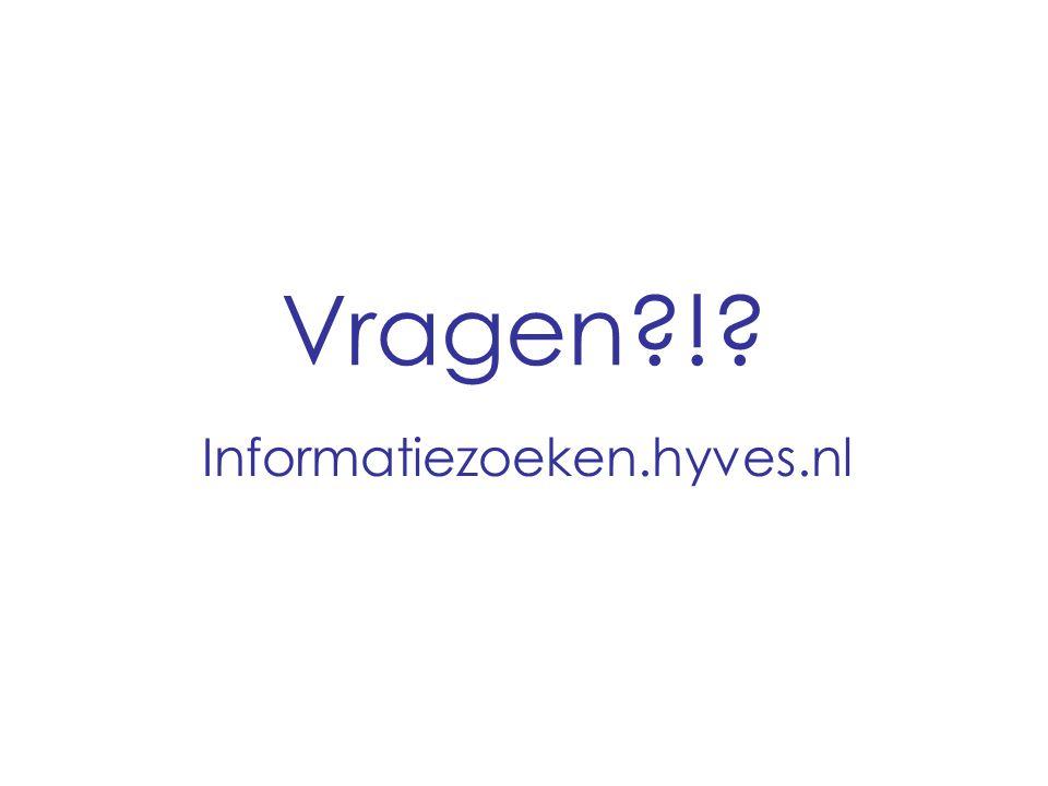 Vragen ! Informatiezoeken.hyves.nl