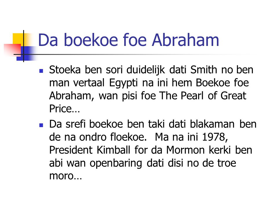 Da boekoe foe Abraham