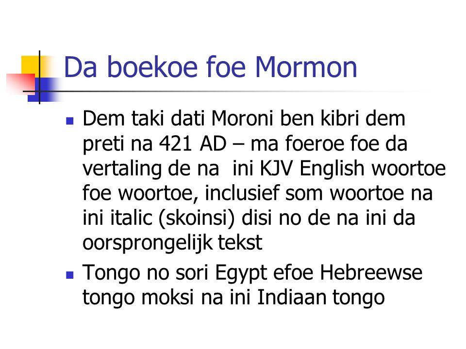 Da boekoe foe Mormon