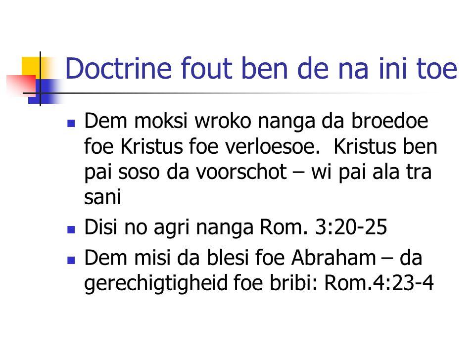 Doctrine fout ben de na ini toe
