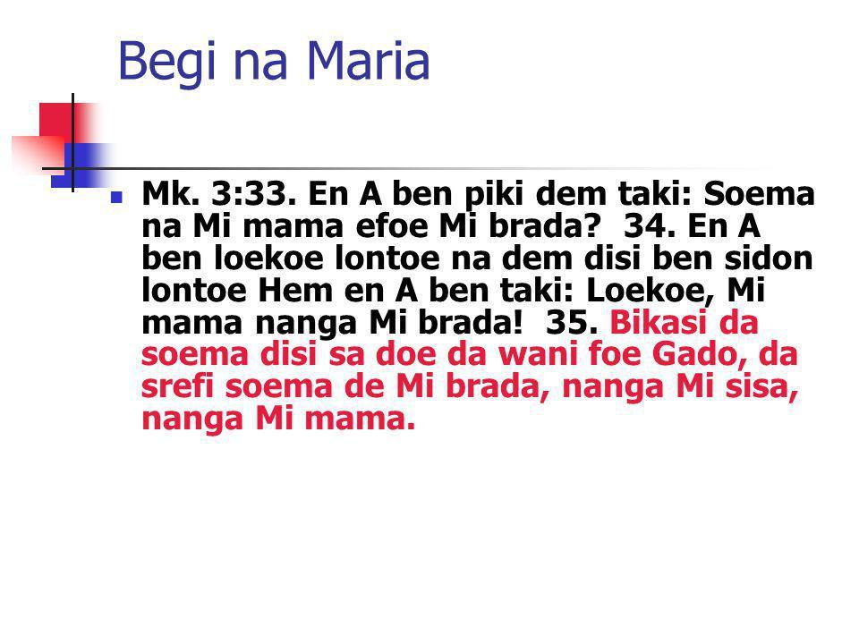 Begi na Maria