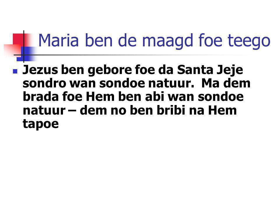 Maria ben de maagd foe teego