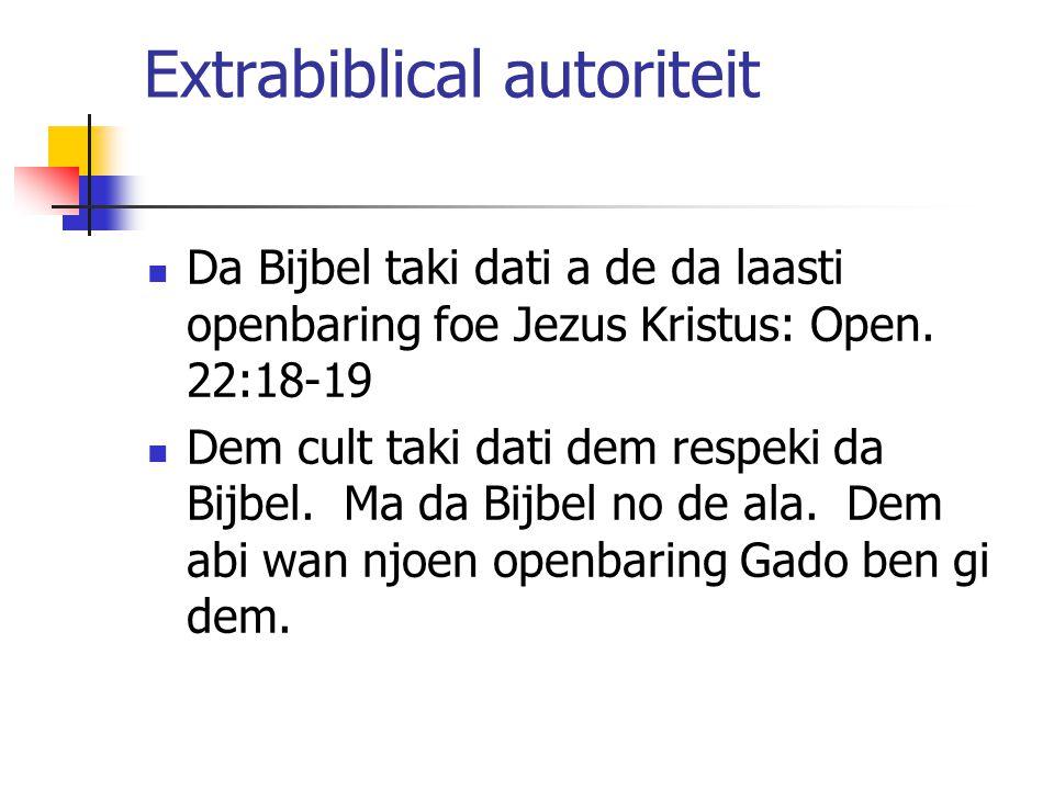 Extrabiblical autoriteit