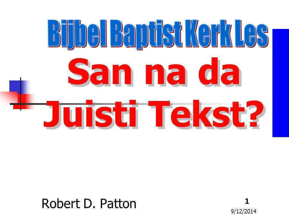 Bijbel Baptist Kerk Les