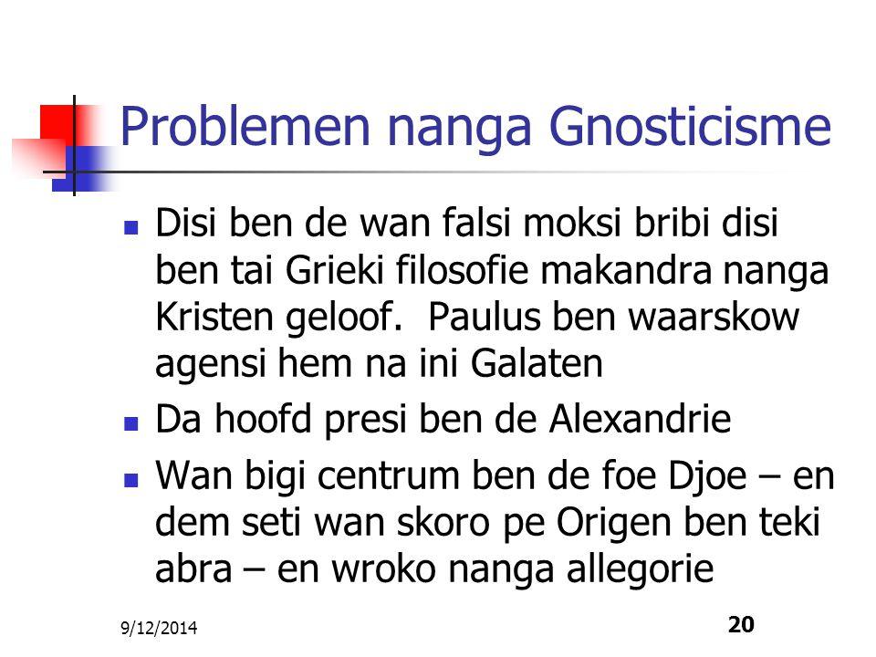 Problemen nanga Gnosticisme