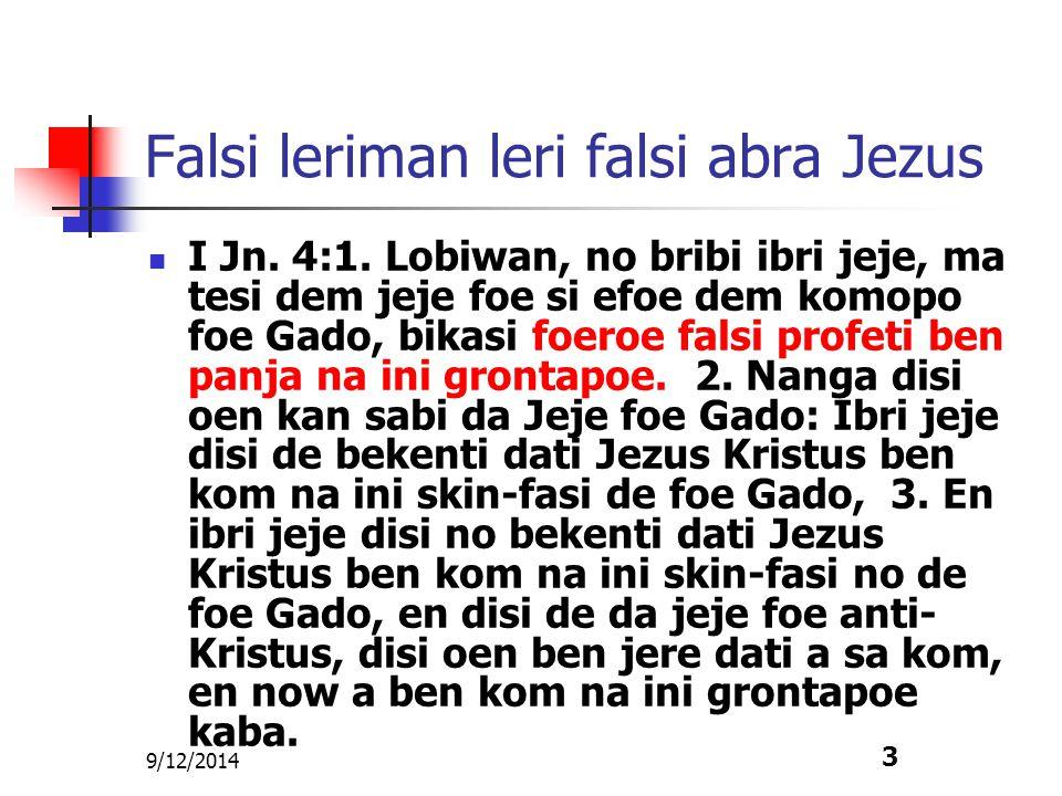 Falsi leriman leri falsi abra Jezus