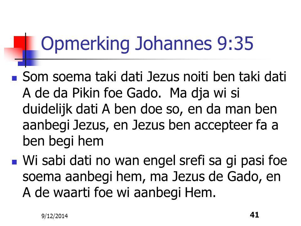 Opmerking Johannes 9:35
