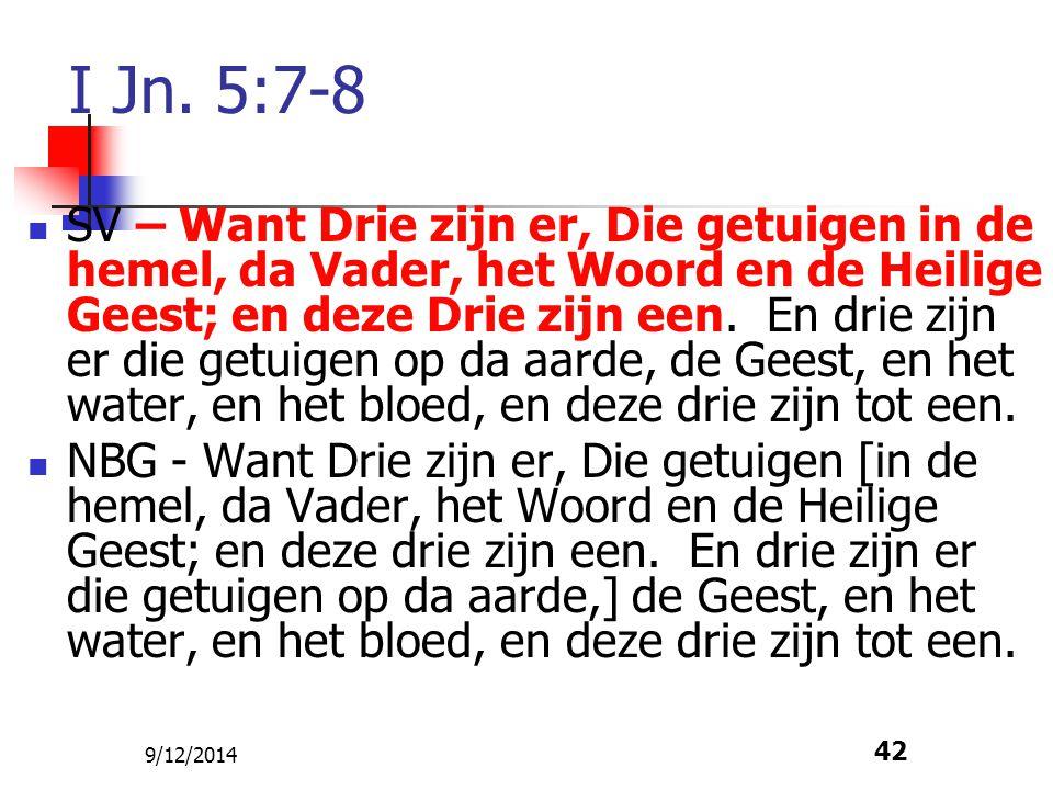 I Jn. 5:7-8