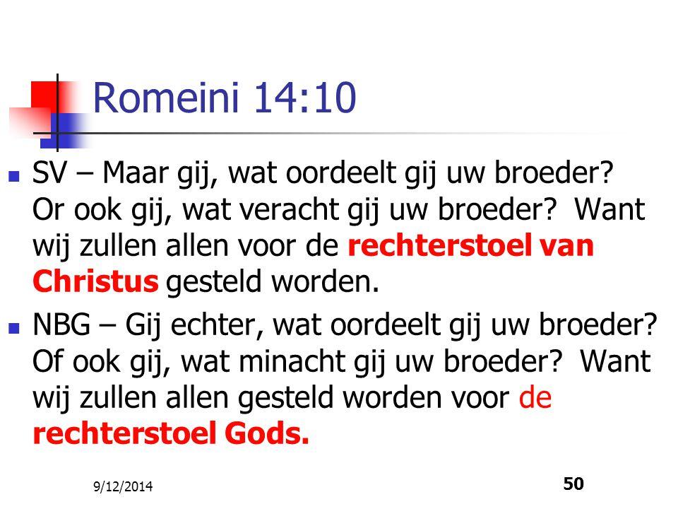 Romeini 14:10