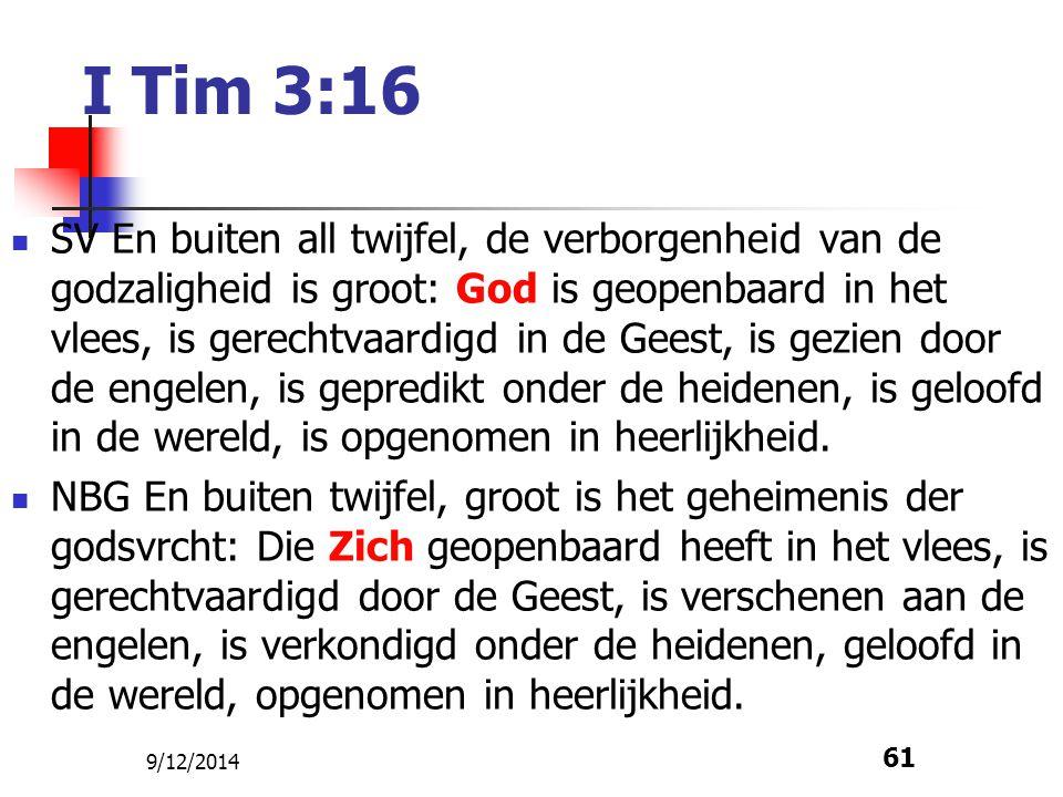 I Tim 3:16