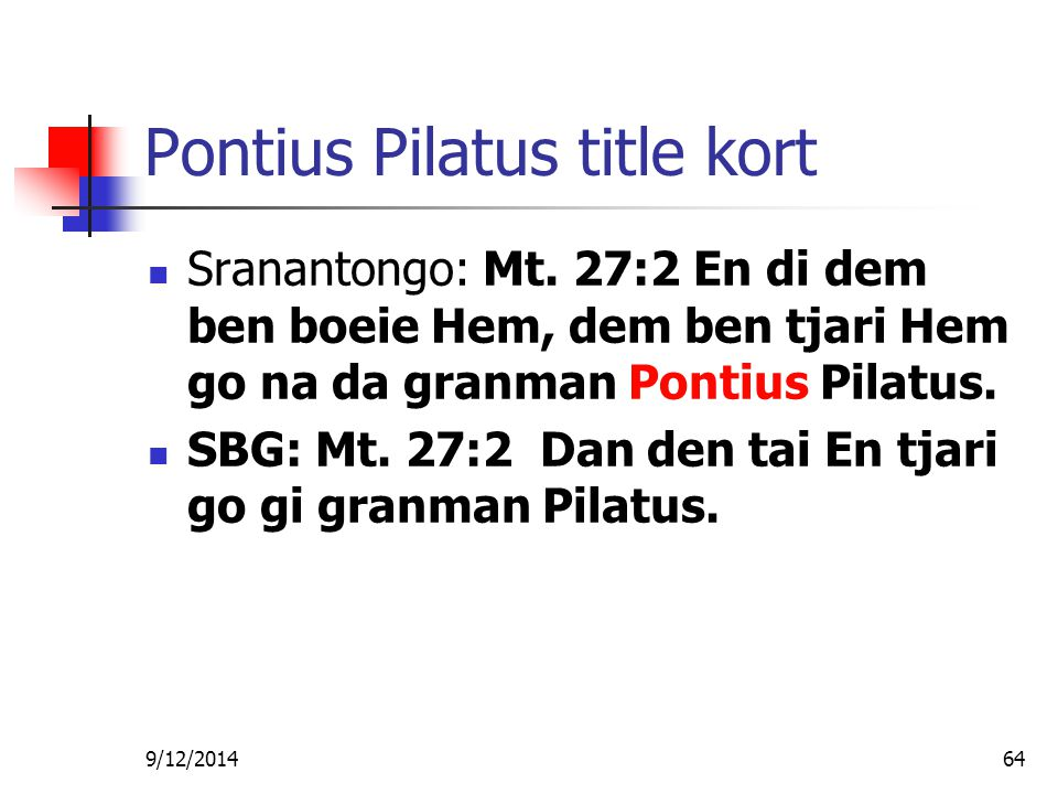 Pontius Pilatus title kort
