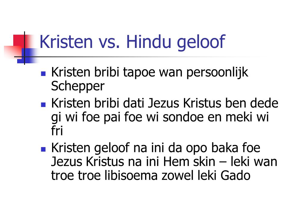 Kristen vs. Hindu geloof