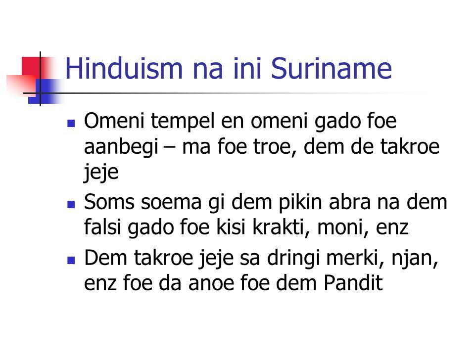 Hinduism na ini Suriname