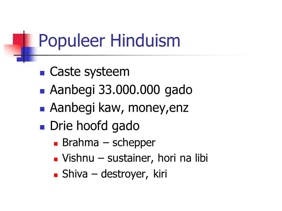 Populeer Hinduism Caste systeem Aanbegi 33.000.000 gado