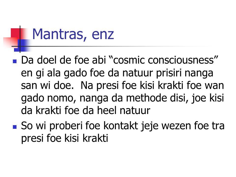 Mantras, enz