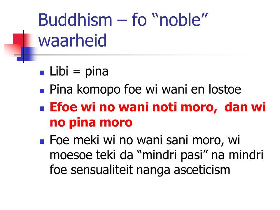 Buddhism – fo noble waarheid