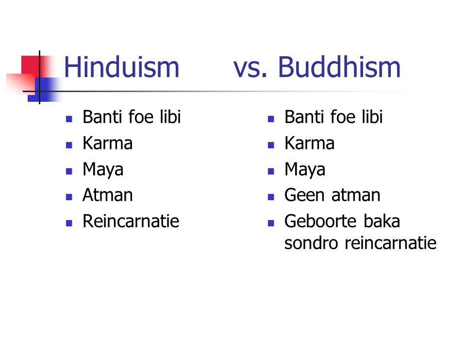 Hinduism vs. Buddhism Banti foe libi Karma Maya Atman Reincarnatie