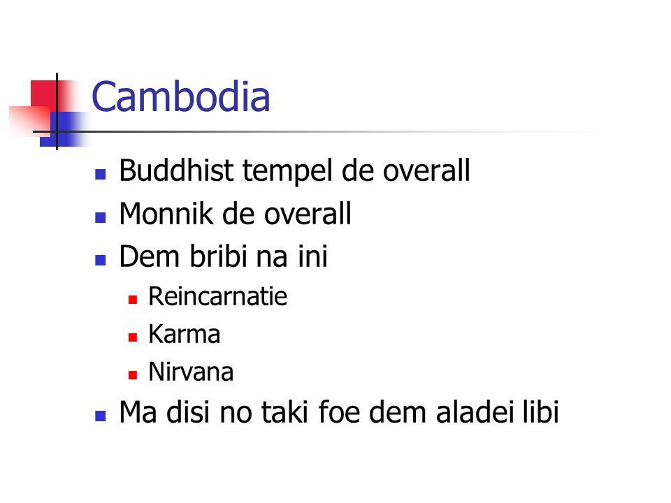 Cambodia Buddhist tempel de overall Monnik de overall Dem bribi na ini