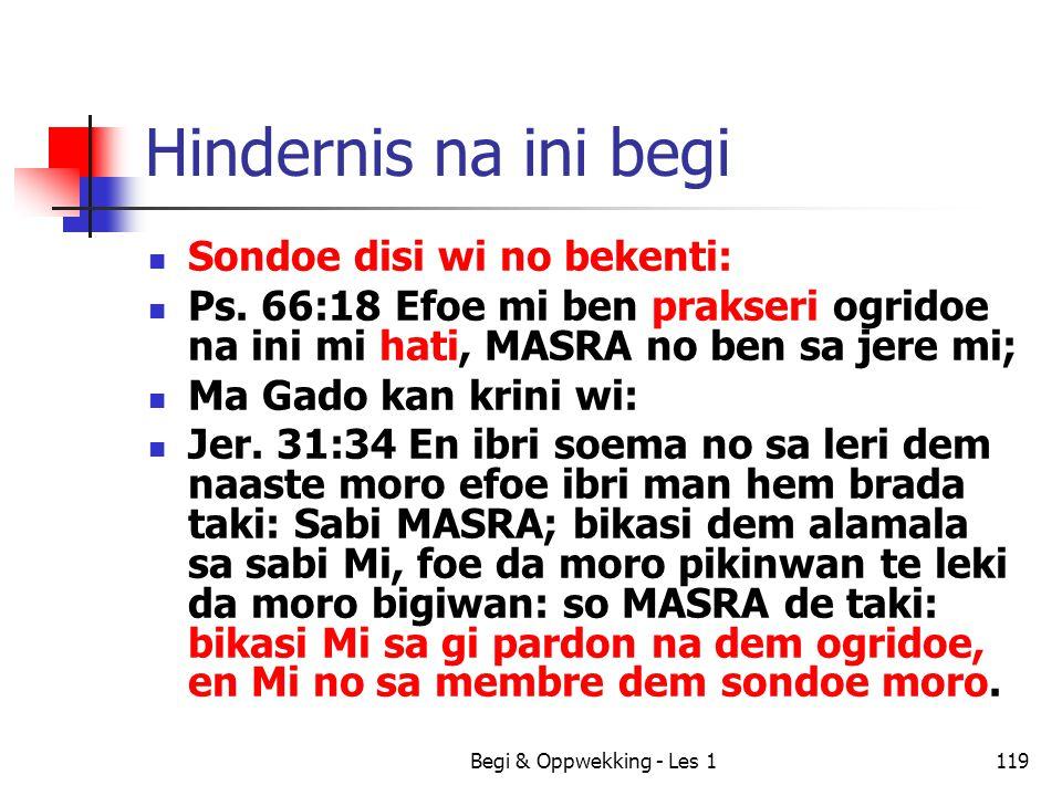 Hindernis na ini begi Sondoe disi wi no bekenti: