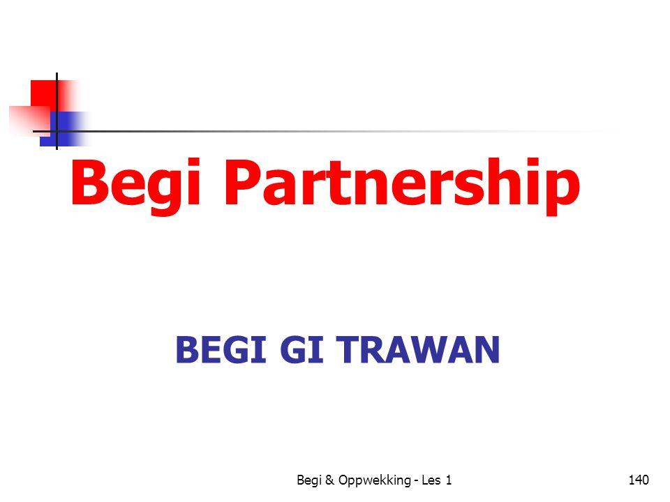 Begi Partnership Begi Gi Trawan Begi & Oppwekking - Les 1