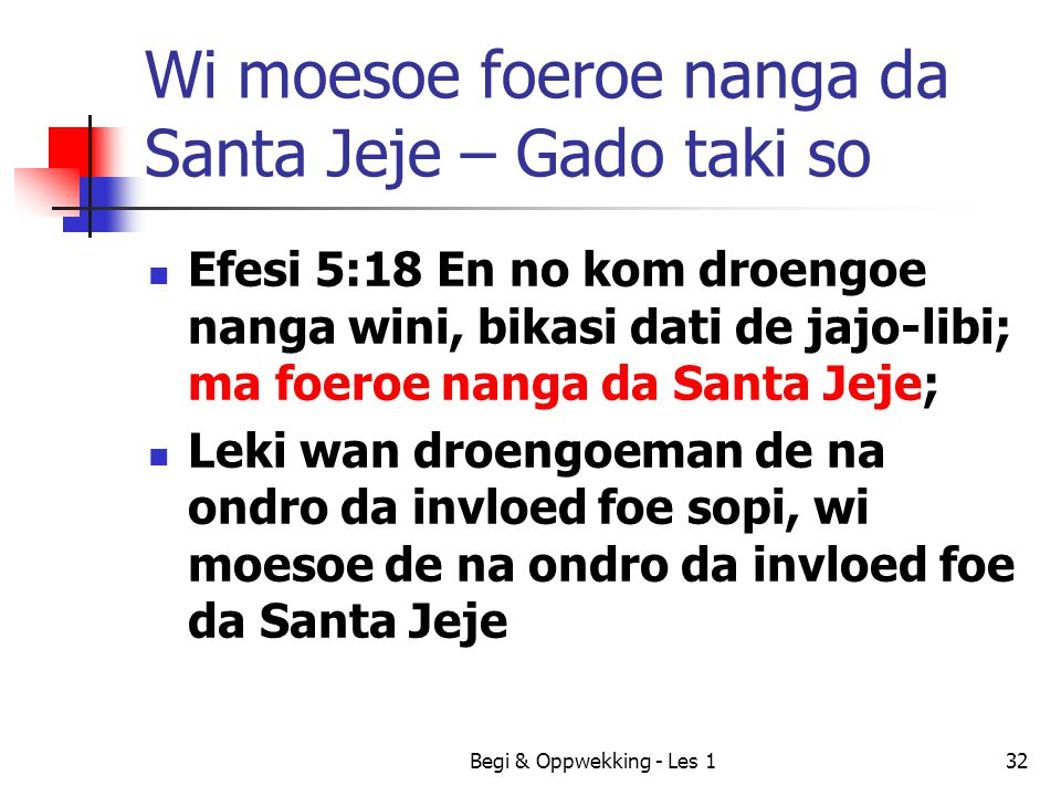 Wi moesoe foeroe nanga da Santa Jeje – Gado taki so