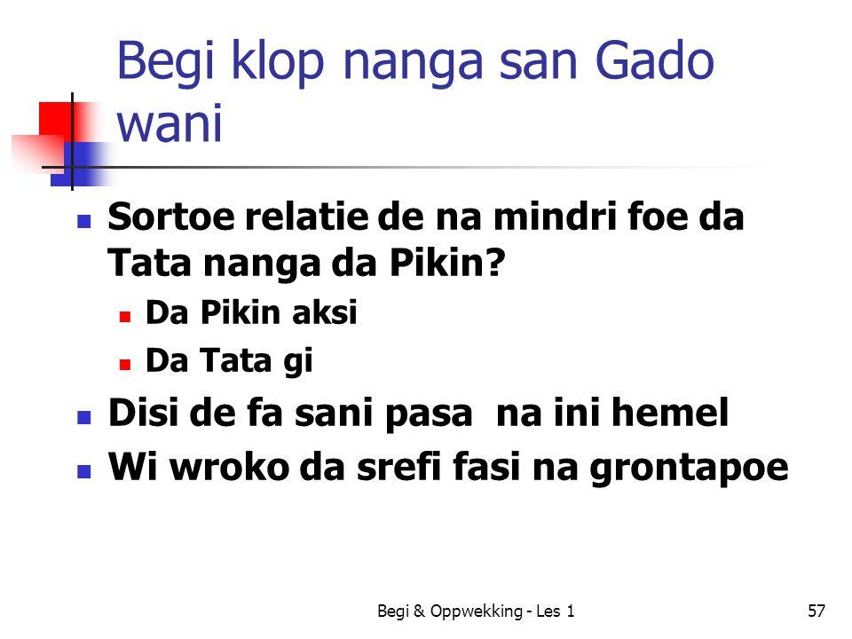 Begi klop nanga san Gado wani