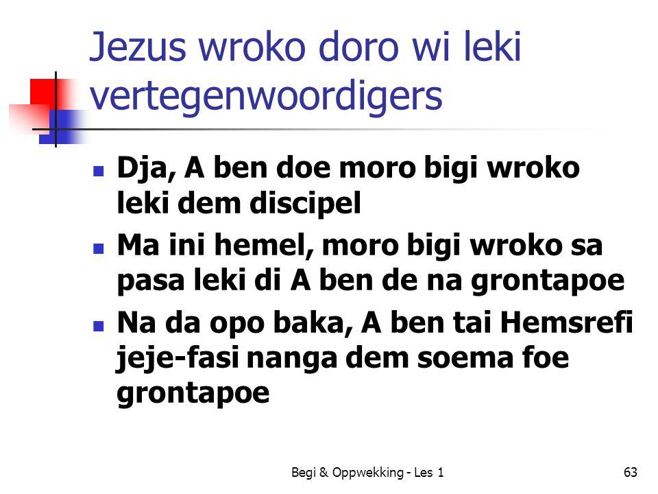 Jezus wroko doro wi leki vertegenwoordigers