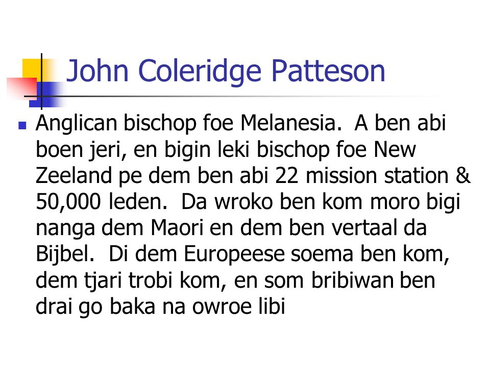 John Coleridge Patteson